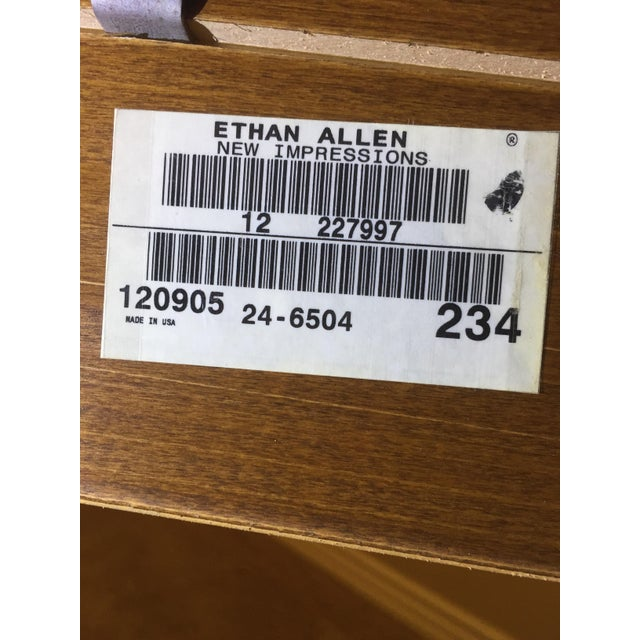 Wood Ethan Allen New Impressions Dining Table With 2 Leaves For Sale - Image 7 of 11