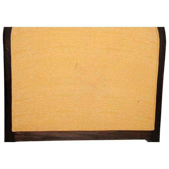 Bone Wooden Belgian Bedframe With Yellow Headboard For Sale - Image 7 of 12