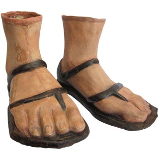 19th Century Papier Mâché Feet For Sale