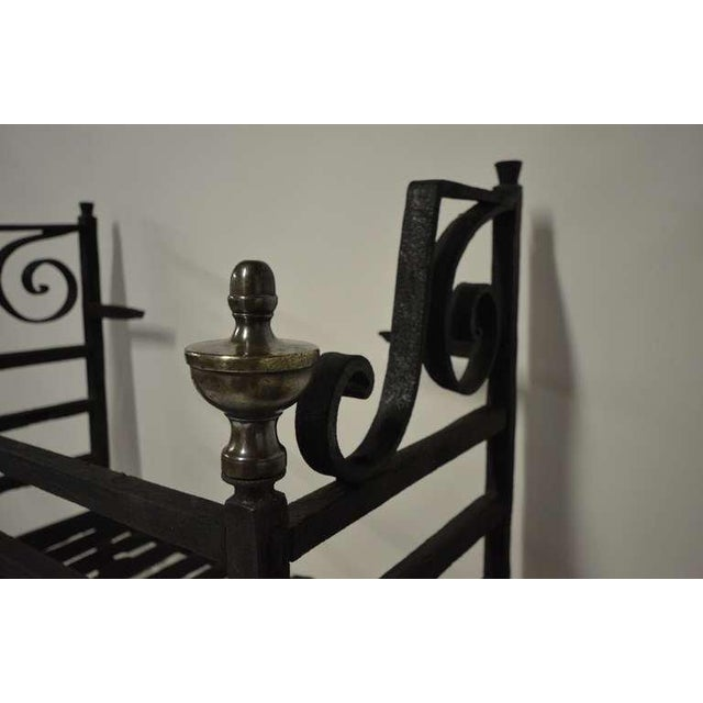 Traditional 17th Century Dutch Iron Fire Grate For Sale - Image 3 of 10
