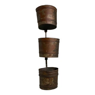 French Water Mill Buckets - Set of 3 For Sale