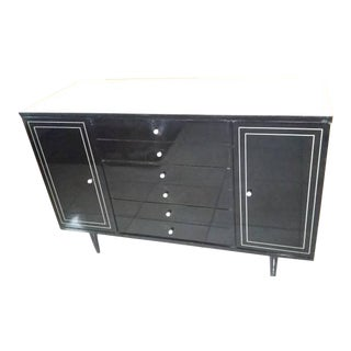 Mid Century American of Martinsville Black and White Buffet For Sale