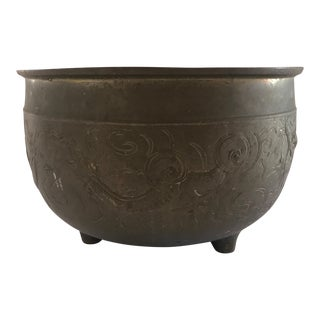 Antique Chinese Bronze Jardiniere For Sale