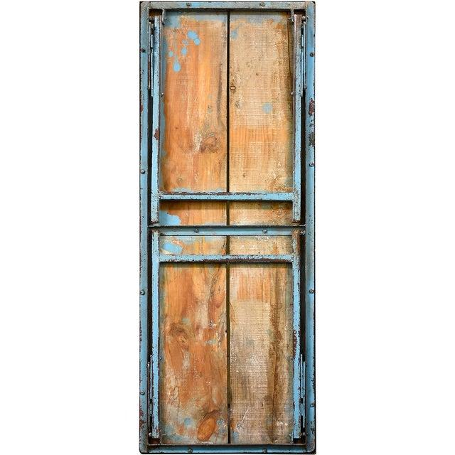 Vintage Blue Wood & Steel Folding Table - Image 3 of 4