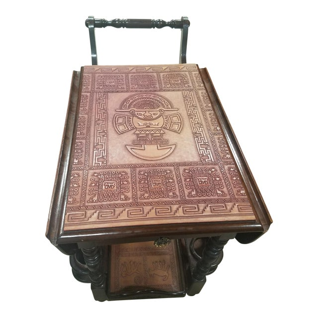 Super Funky Aztec Mayan Bar Cart - Image 1 of 11