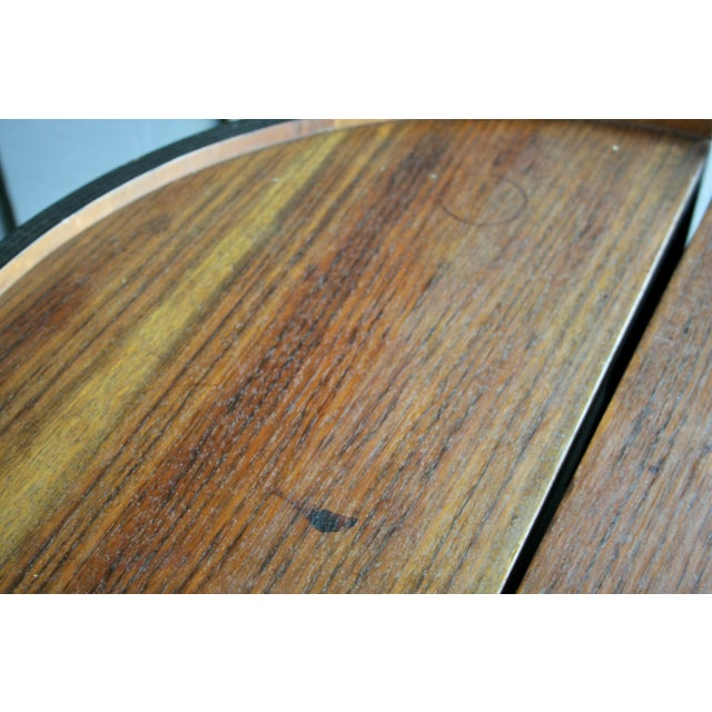 Brown Rosewood Handmade Bar Cabinet on Casters Attr. To Henry Glass For Sale - Image 8 of 13