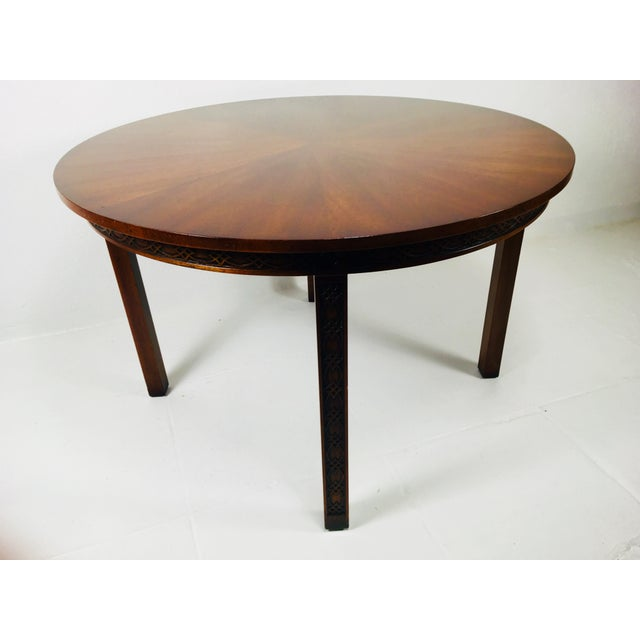 1950s Chippendale Kindel Mahogany Center Table For Sale - Image 10 of 11