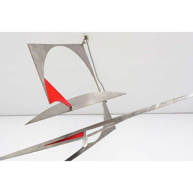 Stainless Steel Hanging Mobile Sculpture For Sale In San Diego - Image 6 of 10