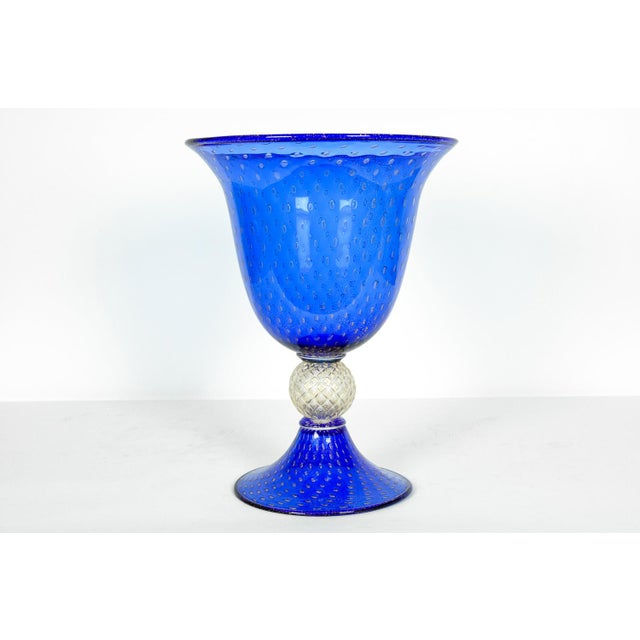 Midcentury Modern Large Scale Cobalt Murano Glass Piece For Sale In New York - Image 6 of 7