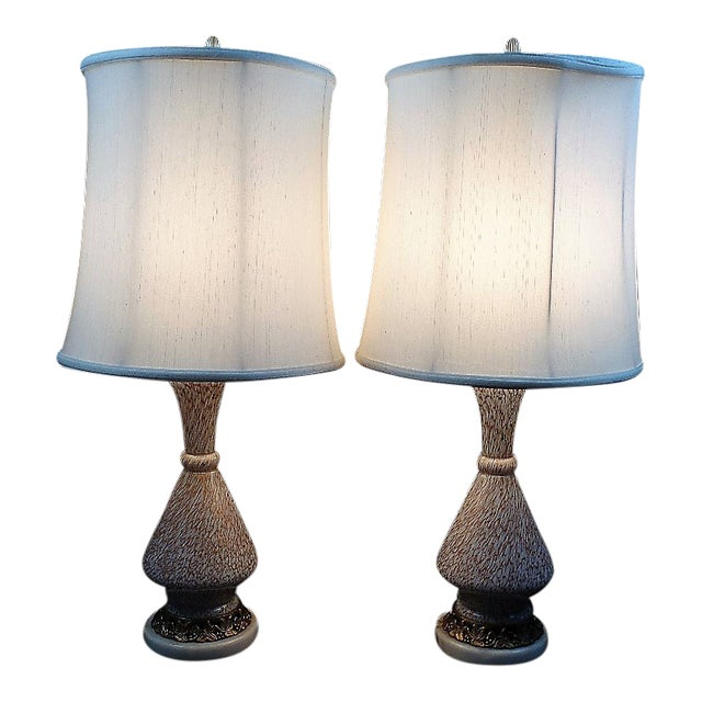 Barovier E Toso Style Murano Glass Table Lamps - a Pair For Sale