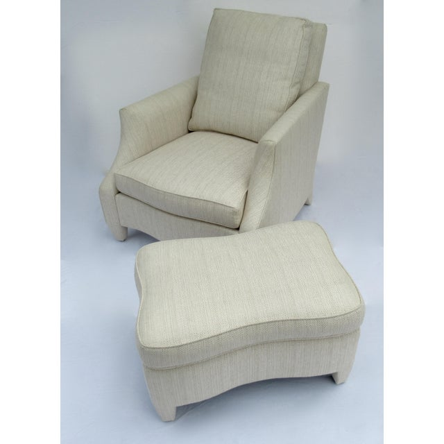"""C.1990's: Original John Hutton design for Donghia Furniture, is this """"Ogee,"""" Club Chair and Ottoman. This was the most..."""