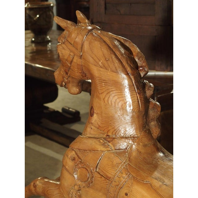 Circa 1900 Wooden Jumping Horse on Stand From Barcelona Spain For Sale - Image 12 of 13