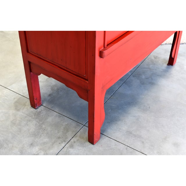 Chinese Red Wedding Cabinet For Sale - Image 11 of 13