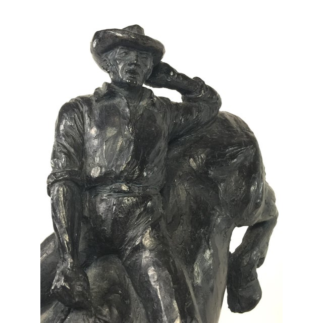 1979 Austin Productions Bull Cowboy Rider Sculpture For Sale - Image 11 of 11