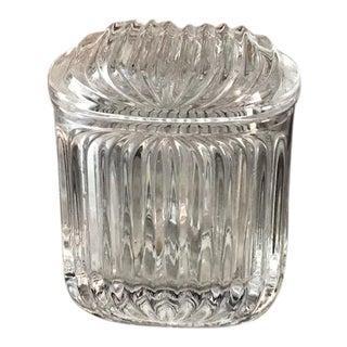 Mid-Century Modern Pleated Crystal Stash Lidded Box