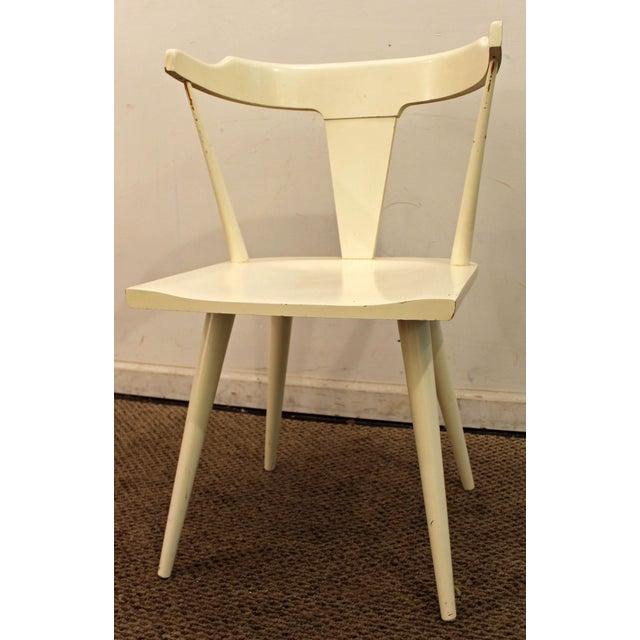 Planner Group Mid-Century Danish Modern White Paul McCobb Planner Group Desk Side Chair For Sale - Image 4 of 11