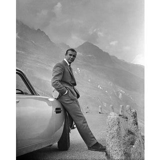 """Sean Connery and His Aston Martin From """"Goldfinger"""" 1964 (11x14 Photo) For Sale"""
