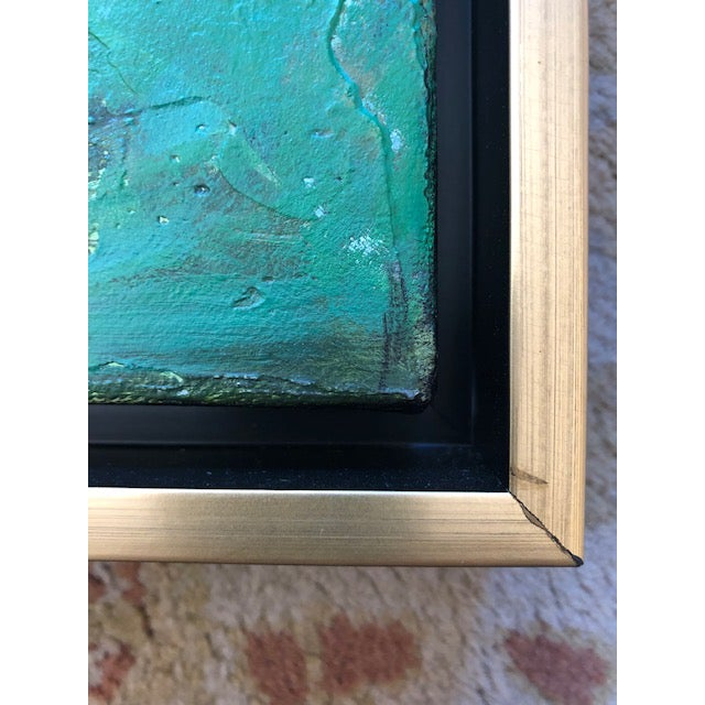"""Original Laurie MacMillan """"A World With Water"""" Abstract Painting For Sale In Los Angeles - Image 6 of 7"""
