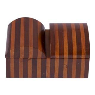 1970s Vintage Handmade Wood Box For Sale