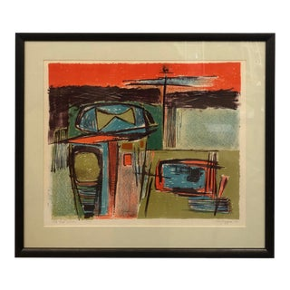1950 Jerry Opper Original Abstract Color Litho For Sale
