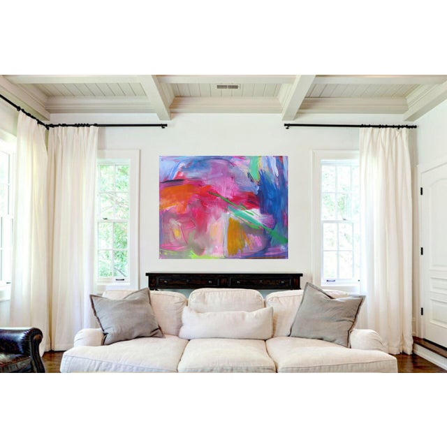 """""""Uluru"""" by Trixie Pitts Extra-Large Abstract Landscape Painting For Sale In Nashville - Image 6 of 11"""