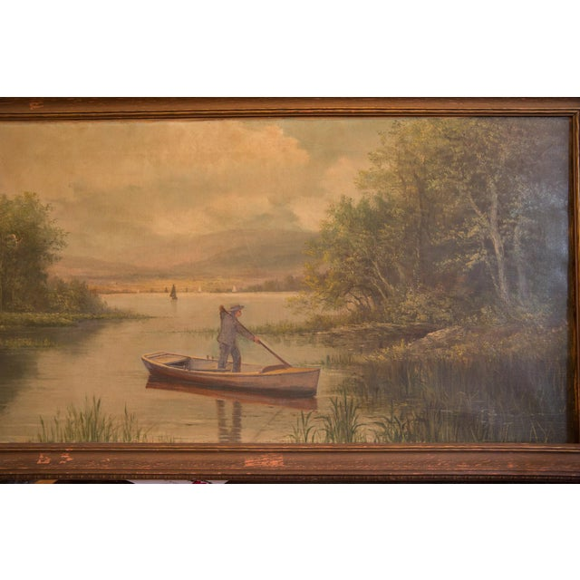 Traditional Antique Seascape Portait Painting For Sale - Image 3 of 12