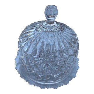 Antique Crystal Butter Keeper For Sale