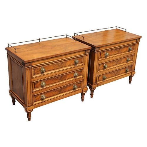 1960's Neoclassical Style Nightstands - A Pair - Image 2 of 8