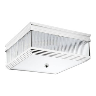 Silver Square Flush Mount   Eichholtz Marly For Sale