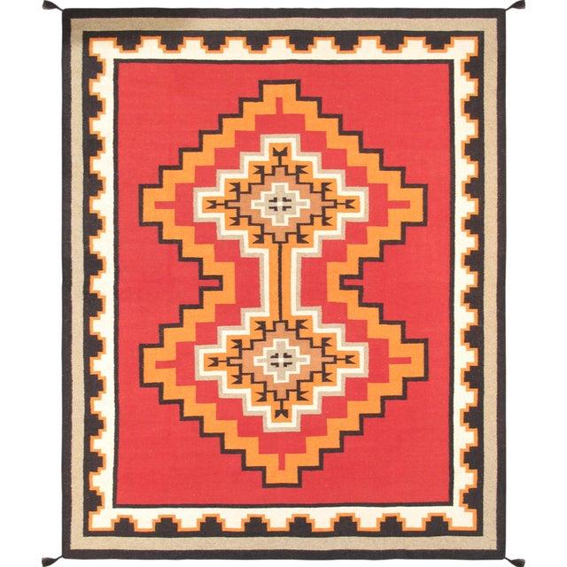 "Navajo Decorative Hand-Woven Rug - 7'11"" X 10'1"" - Image 1 of 3"