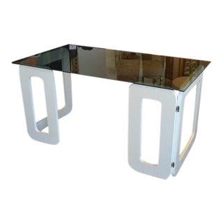 White Vintage Desk From France, C.1970 For Sale