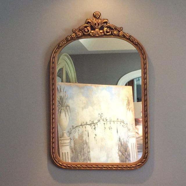 Antique Gilt Carved Arched Mirror - Image 2 of 6