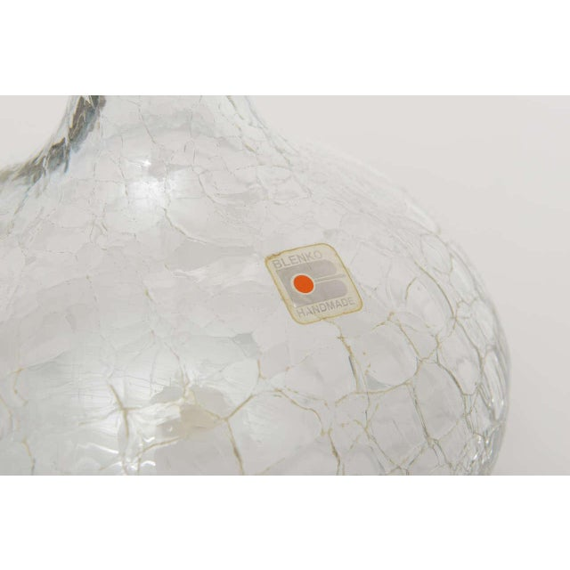 Crackled Glass Blenko Modern Decanter - Image 10 of 10