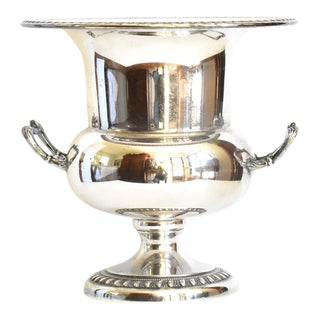 Sheffiled Silver Plate Gadrooned Champagne Bucket For Sale