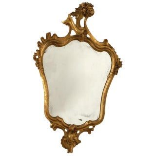 Early 20th Century Italian Carved & Gilt Wood Mirror For Sale