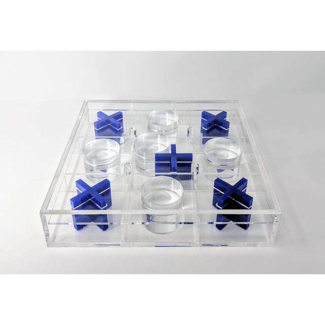 Blue Lucite Tic-Tac-Toe Game Board For Sale - Image 8 of 13