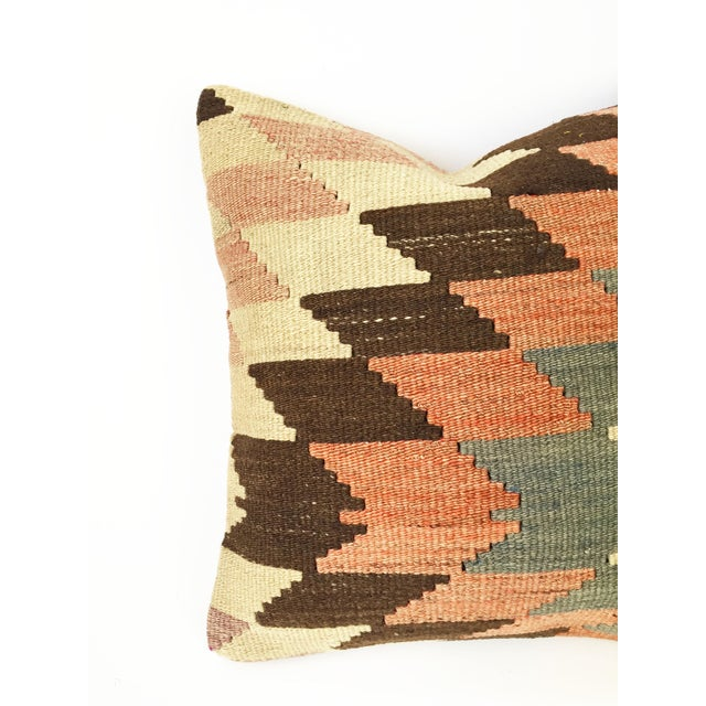Vintage Kilim Square Pillowcase - Image 3 of 5