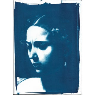 Limited Serie Cyanotype Print of Judith (Detail) Painted by Caravaggio For Sale