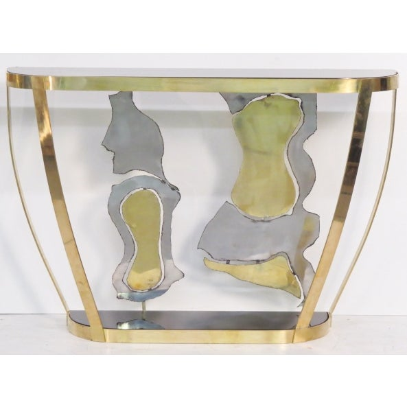 Italian Modern Sculptural Console Tables - Pair - Image 3 of 7
