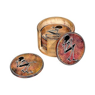 Tribal-Style Coaster Set - Set of 7