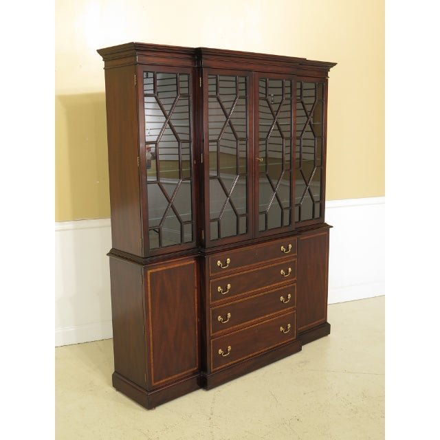 Kittinger Richmond Hill Collection Mahogany Breakfront For Sale - Image 12 of 14