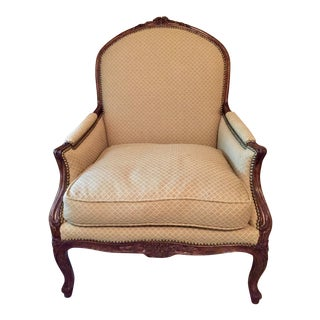 Modern Minton-Spidell French Petit Point Upholstery Lounge Chair For Sale