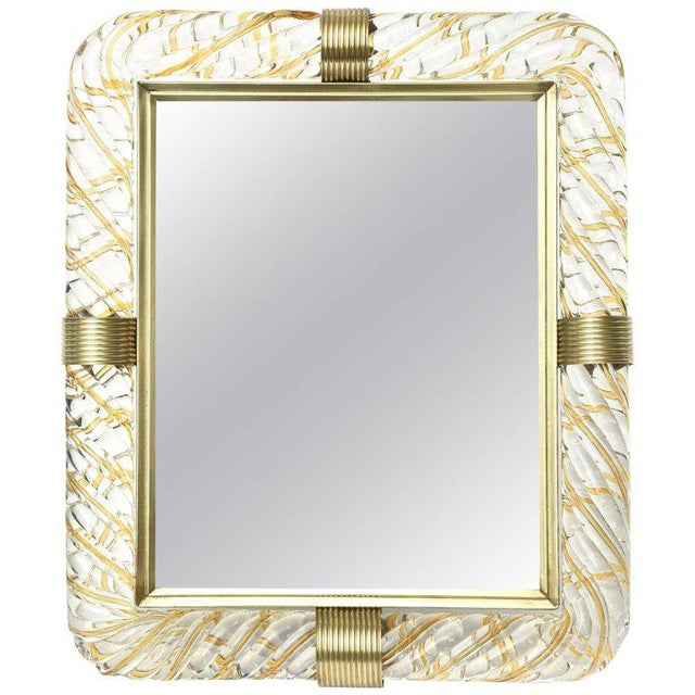 Italian Murano Vintage Glass and Brass Picture Frame For Sale - Image 11 of 11