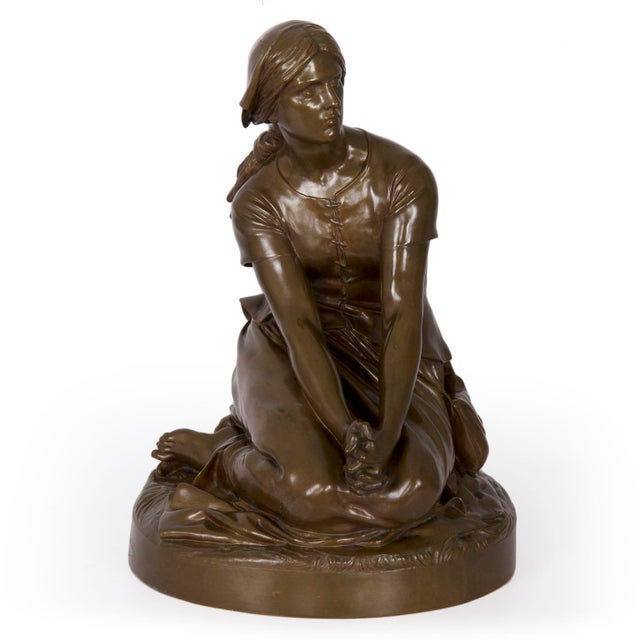 """Antique French Bronze Sculpture """"Joan of Arc"""" After Henri Chapu by Barbedienne For Sale - Image 13 of 13"""