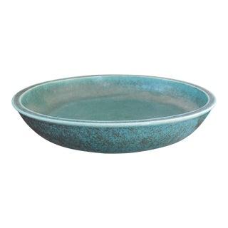 """Eva Staehr Nielsen Green 9"""" Diameter Low Green Bowl for Saxbo, 9"""" Diam. Denmark For Sale"""