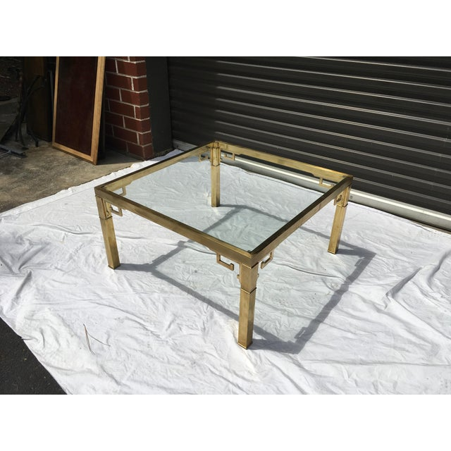 Mastercraft Italian Brass Coffee Table For Sale - Image 10 of 12