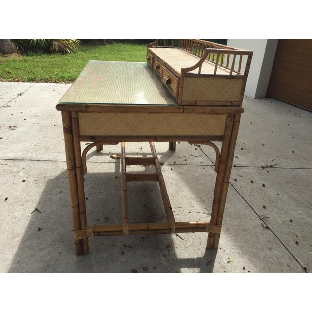 Nautical Casablanca Bamboo Writing Desk For Sale - Image 3 of 9