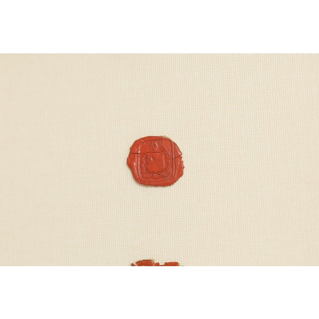 Antique English Red Wax Seal Intaglios Art, a Pair For Sale - Image 4 of 10