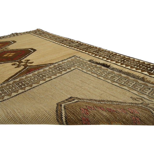 Vintage Persian Shiraz Accent Rug With Modern Tribal Style - 04'03 X 07'01 For Sale - Image 4 of 5