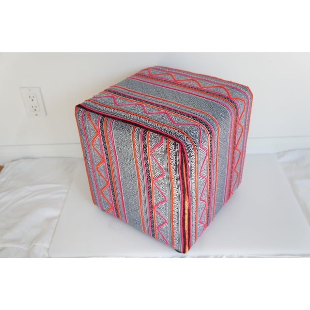 Upholstered in our favorite Hmong fabrics, these sweet and very versatile additions to your home decor are ready for your...